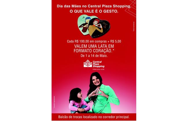 Banner Shopping Central Plaza Dia das Maes